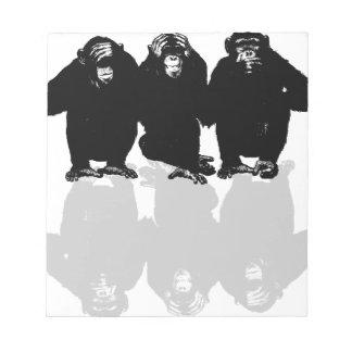 3 monkeys notepad