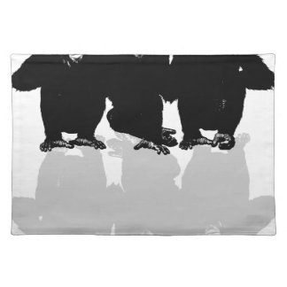 3 monkeys placemat