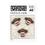 3 Monkeys Postage Stamp