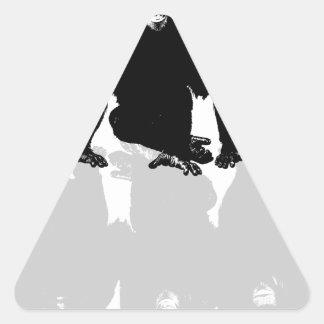 3 monkeys triangle sticker