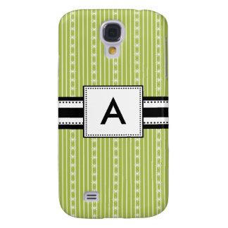 3 - Monogram Mod Green Stripes Galaxy S4 Cover