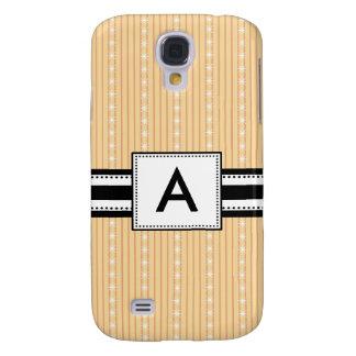 3 - Monogram Yellow Stripes Galaxy S4 Cover