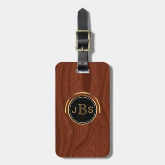 3 Monogrammed Initials | Executive Upscale Luxury Luggage Tag