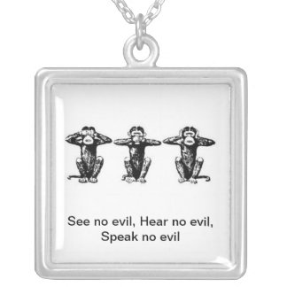 3 monos colgante cuadrado