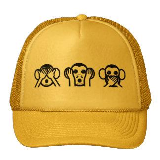 3 monos sabios Emoji Gorras De Camionero