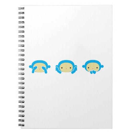 3 monos sabios libros de apuntes