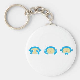 3 monos sabios llaveros personalizados
