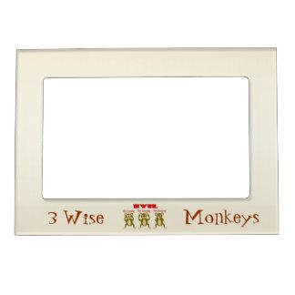 3 monos sabios marcos magneticos para fotos