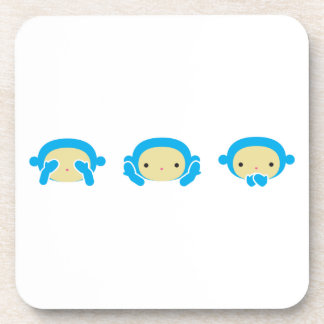 3 monos sabios posavasos de bebida