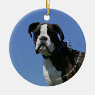3 Month Old Boxer Puppy Ceramic Ornament
