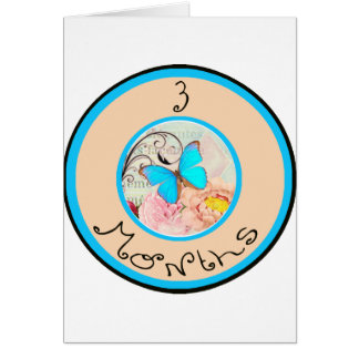 3 Months Butterfly Milestone Card