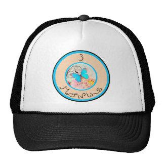 3 Months Butterfly Milestone Trucker Hat
