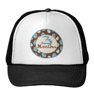 3 Months Dinosaur Milestone Trucker Hat