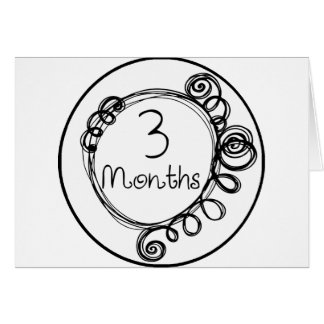 3 Months Doodle Milestone Card