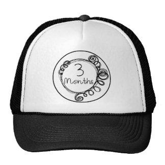 3 Months Doodle Milestone Trucker Hat