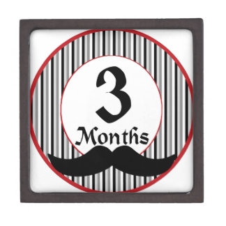 3 Months Mustache Milestone Gift Box