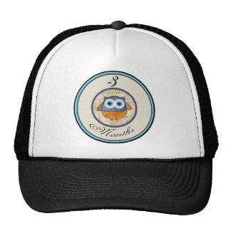 3 Months Owl Milestone Trucker Hat