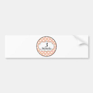 3 Months Polka Dot Milestone Bumper Sticker