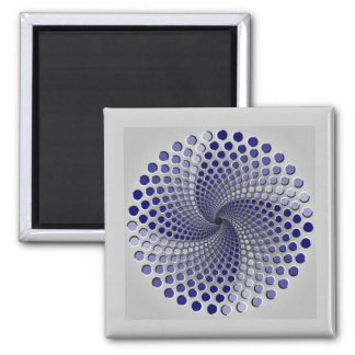 3 Moving Patterns Optical Illusion-2 2 Inch Square Magnet