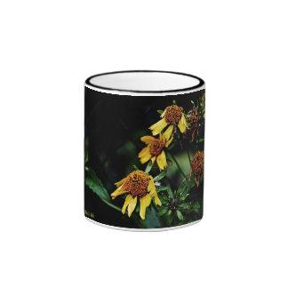 3 muertos amarillos pero flores hermosas taza de dos colores