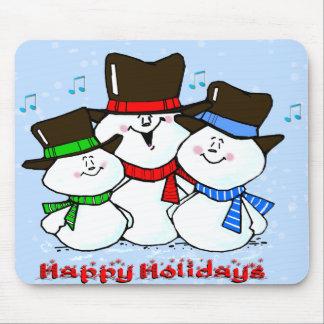 3 muñecos de nieve cantantes tapetes de raton