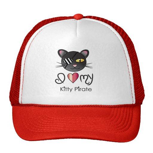 <3 my kittyPIRATE Mesh Hat