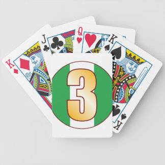 3 NIGERIA Gold Bicycle Playing Cards