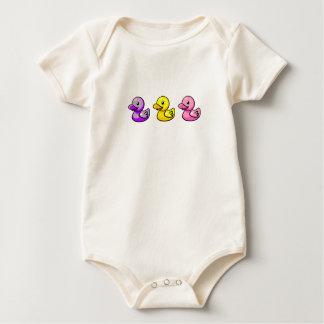 3 niña Duckies Mameluco De Bebé