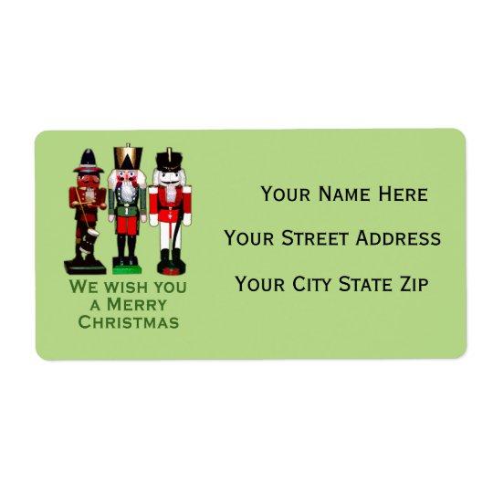 3 nutcrackers custom return address labels zazzle com