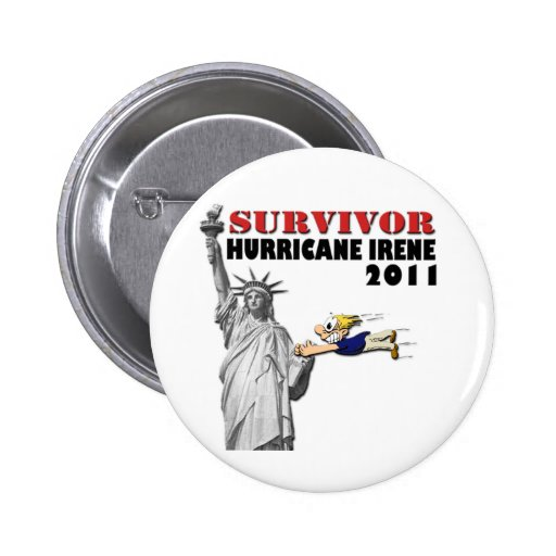 #3 NYC Survived Hurricane Irene Pinback Buttons