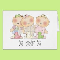 3 of 3 Triplet Cuties Card