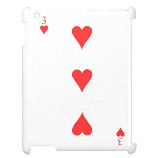 3 of Hearts iPad Cases