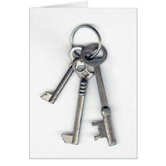 3 Old Keys Card