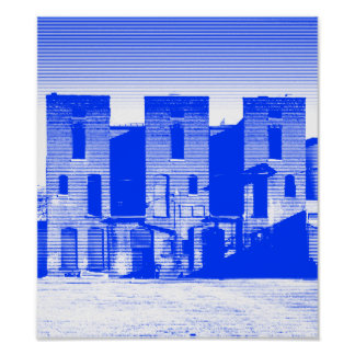 3 on Ellis Street_Blue Poster