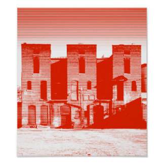 3 on Ellis Street_Red Poster