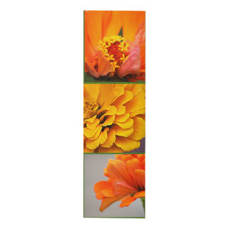 3 Orange Yellow Zinnias Panel Wall Art