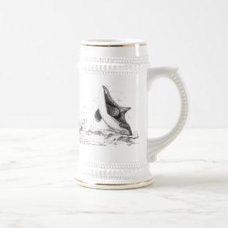 3 Orcas Playing Stein Coffee Mug