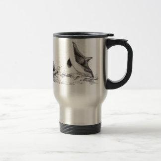 3 Orcas Playing Travel Mug