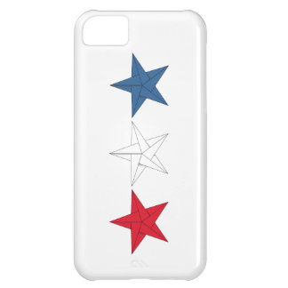 3 Origami Stars – Red, White, and Blue iPhone 5C Covers
