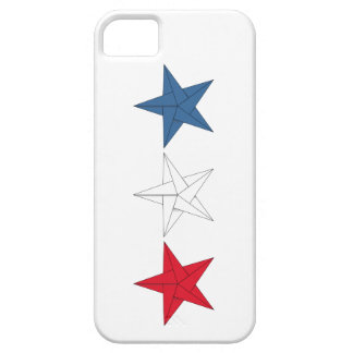 3 Origami Stars – Red, White, and Blue iPhone 5 Cover