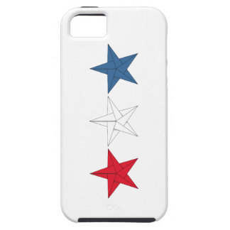 3 Origami Stars – Red, White, and Blue iPhone 5 Cases