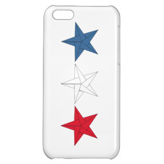 3 Origami Stars – Red, White, and Blue iPhone 5C Cases
