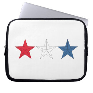 3 Origami Stars – Red, White, and Blue Laptop Sleeve