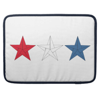 3 Origami Stars – Red, White, and Blue Sleeves For MacBook Pro