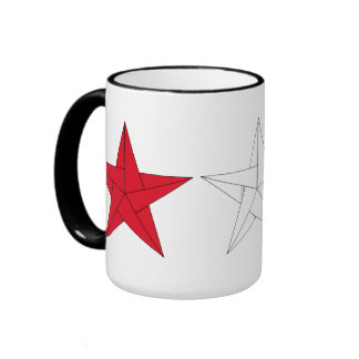 3 Origami Stars – Red, White, and Blue Coffee Mugs