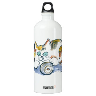 3 Ornaments & Calico Kitty Aluminum Water Bottle
