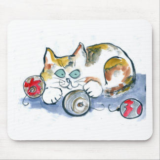 3 Ornaments & Calico Kitty Mouse Pad