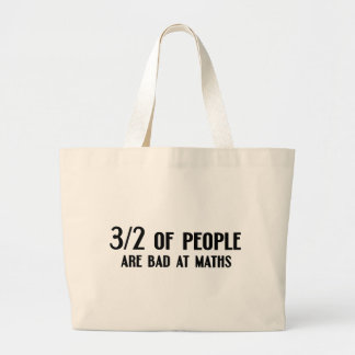 3 out of 2 People are Bad at Maths Tote Bag