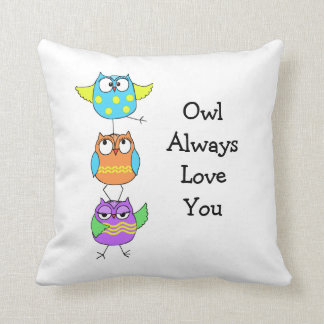 3 owl pillow