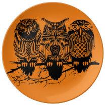 3 Owls Dinner Plate